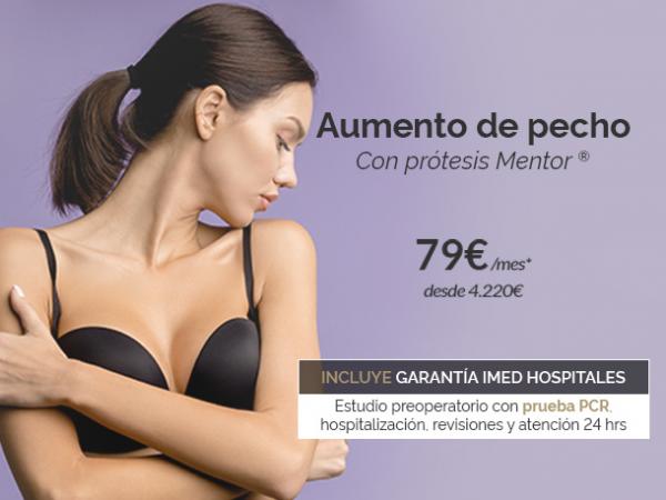 Aumento de pecho con prótesis Mentor · 79€/mes