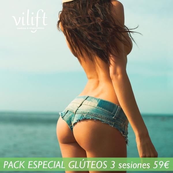 PACK ESPECIAL GLÚTEOS 3 sesiones 59€  en TodoEstetica.com