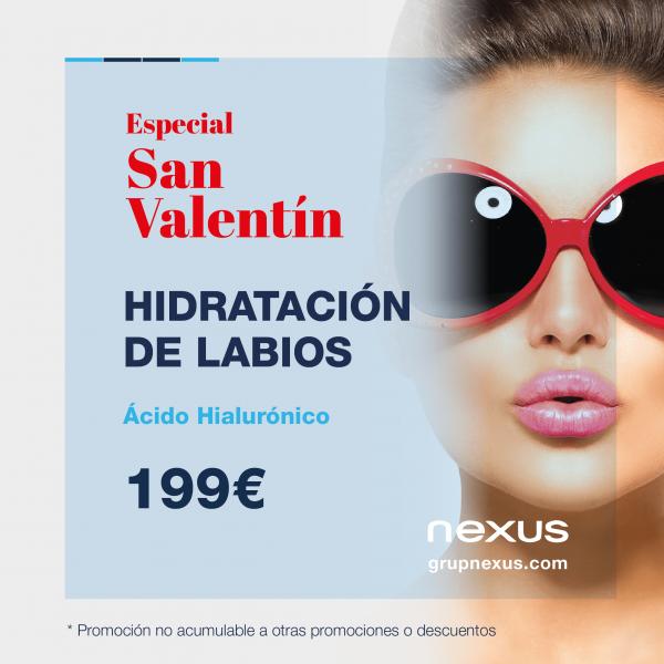 Precio especial San Valentín. Hidratación de labios a 199€