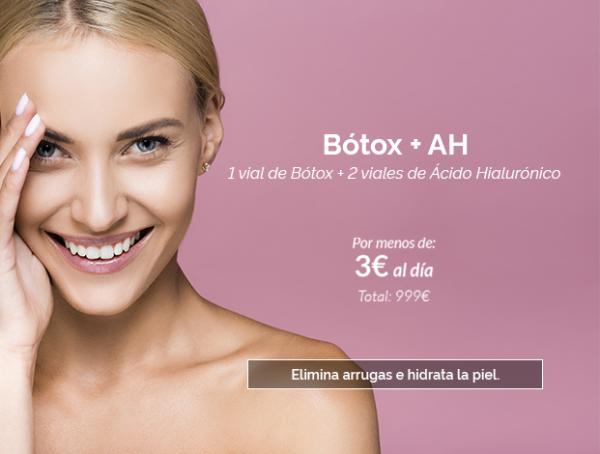 Botox + Ácido hialurónico por menos de 3€ al día en TodoEstetica.com