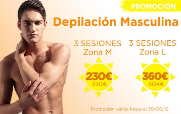 Promoción Depilación Láser Masculina en TodoEstetica.com