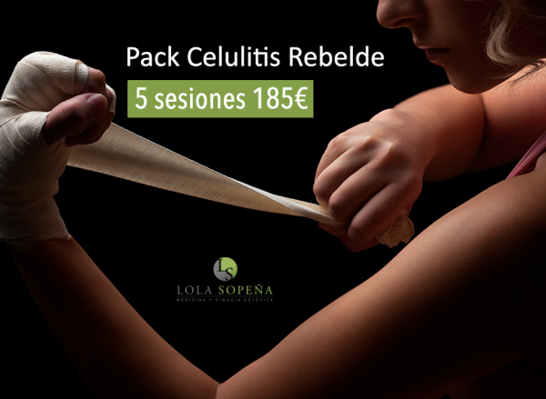 Pack celulitis rebelde 👊 5 sesiones 185€