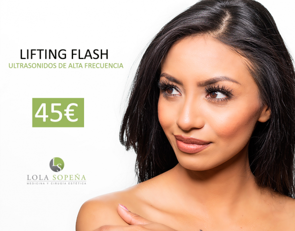 LIFTING FLASH CON ULTRASONIDOS DE ALTA FRECUENCIA 45€