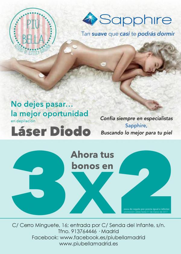 3x2 Bonos Depilación Láser en TodoEstetica.com