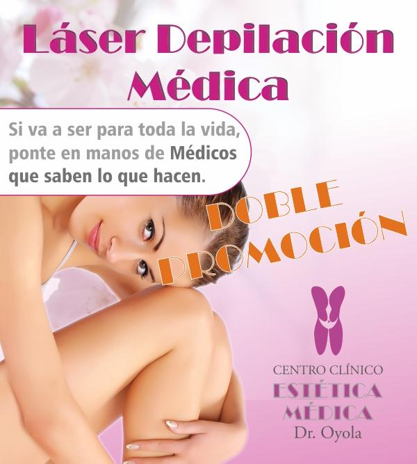 Depilación Láser Médica. Doble Promoción en TodoEstetica.com