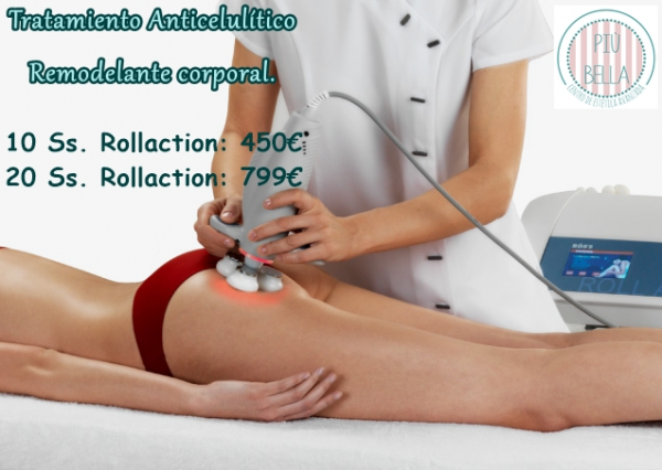 Tratamiento anticelulítico, remodelante corporal Rollaction en TodoEstetica.com