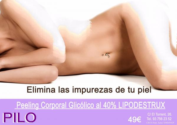 Peeling Corporal Glicólico al 40% LIPO-DESTRUX: 49€ en TodoEstetica.com