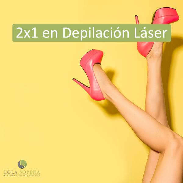2 x 1 en Depilación Láser Zona A 19 € Zona B 39 € en TodoEstetica.com