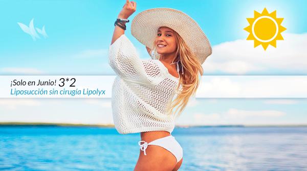 Liposucción sin cirugía Lipolyx 3x2 ¡Solo en Junio!