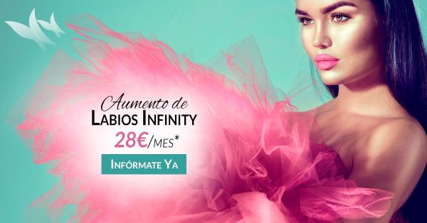 Aumento de labios Infinity 28€/mes en TodoEstetica.com