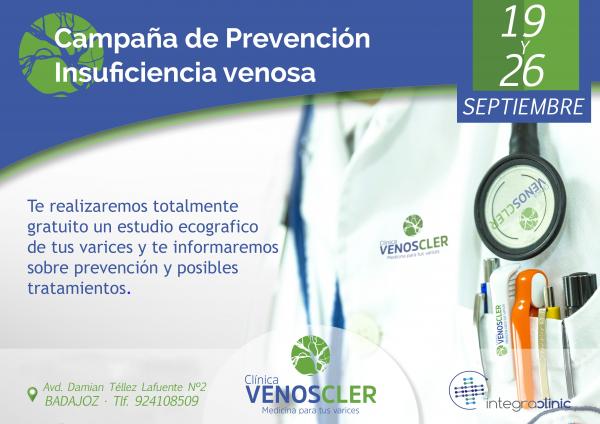 estudio de varices con ecografia doppler  y transiluminacion gratuito. Campaña de prevención de la salud.