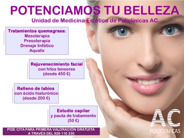 Medicina Estética Policlínicas AC: POTENCIAMOS TU BELLEZA en TodoEstetica.com