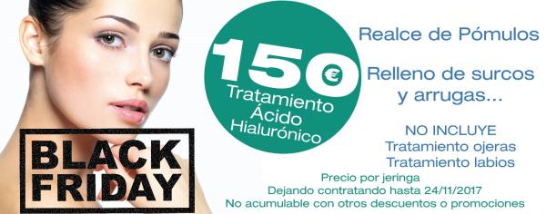 BLACK FRIDAY: Tratamiento Ácido Hialurónico: 150€/jeringa