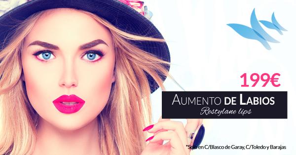 Aumento de labios con Resyltane solo 199€ en TodoEstetica.com