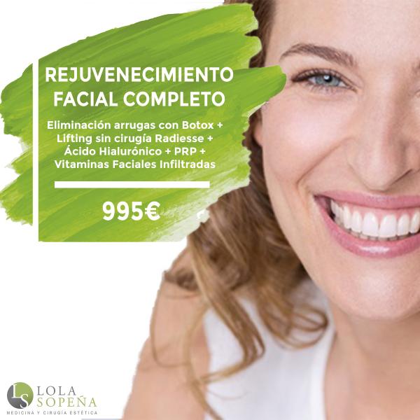 Rejuvenecimiento facial completo desde 30 €/ mes finaciado