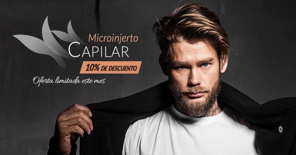 10% de descuento en Microinjerto capilar