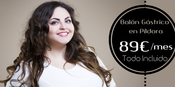 Balón gástrico en Píldora desde 89 €/mes