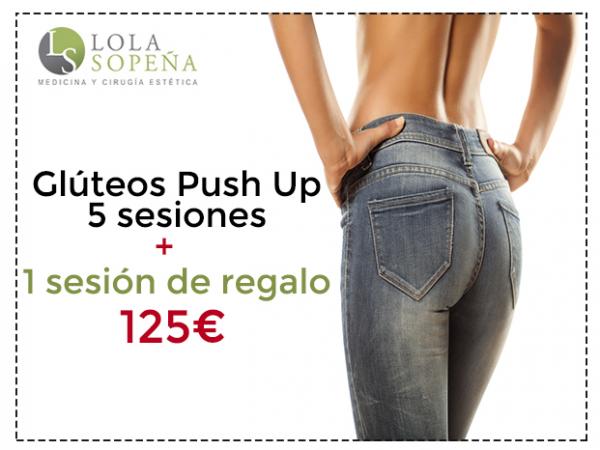 125€ Glúteos Push Up 5 sesiones + 1 sesión de regalo en TodoEstetica.com