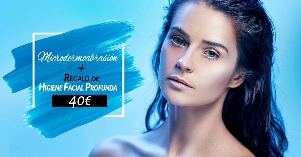 Microdermoabrasión + Regalo Higiene facial profunda 40€ en TodoEstetica.com