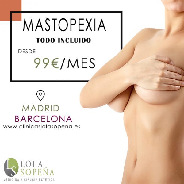 Desde 99€/mes por Mastopexia o Elevación de pecho  en TodoEstetica.com