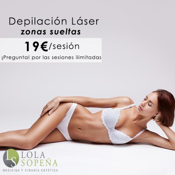 Depilación láser por 19€/sesión en zonas pequeñas  en TodoEstetica.com