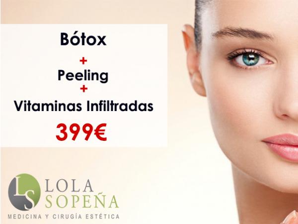 399€ Bótox + Peeling + Vitaminas Infiltradas  en TodoEstetica.com
