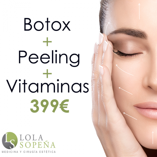 399€ Bótox Completo + Peeling + Vitaminas