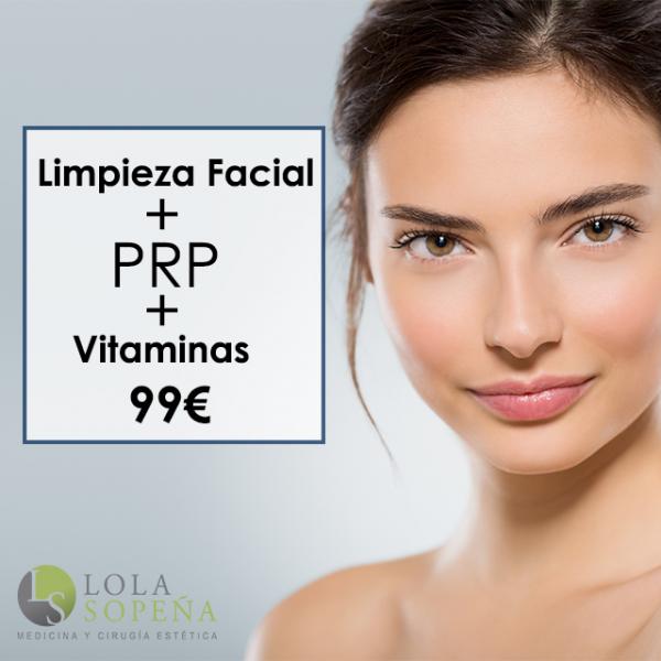 99€ Limpieza Facial + PRP + Vitaminas en TodoEstetica.com