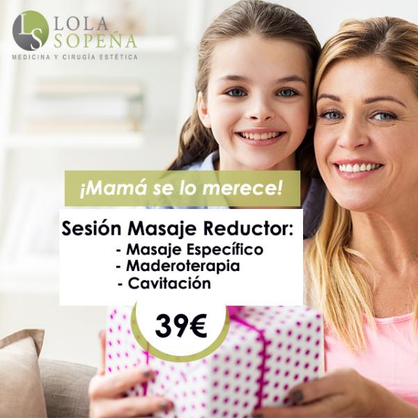 39€/sesión Masaje específico + Maderoterapia + Cavitación