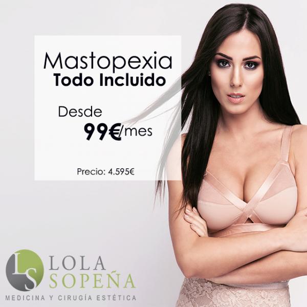Desde 99€/mes Mastopexia (Elevación de pecho) con Todo Incluido