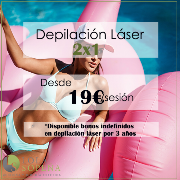 2x1 en depilación láser (desde 19€/sesión)