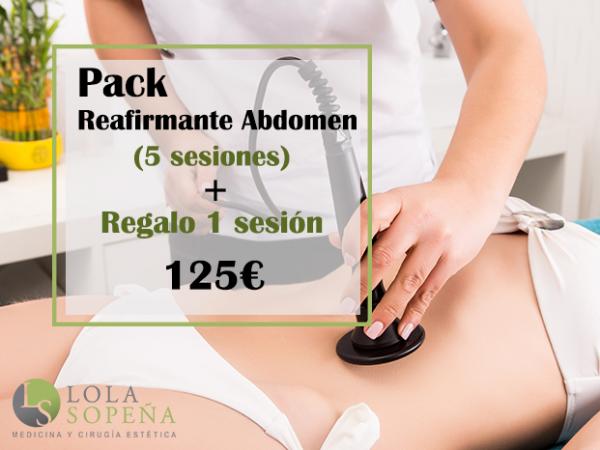 125€ Pack Reafirmante de abdomen 5 sesiones + Regalo 1 sesión en TodoEstetica.com