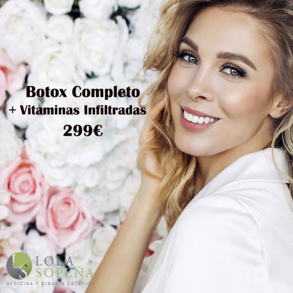 299€ Botox Completo + Vitaminas Infiltradas en TodoEstetica.com