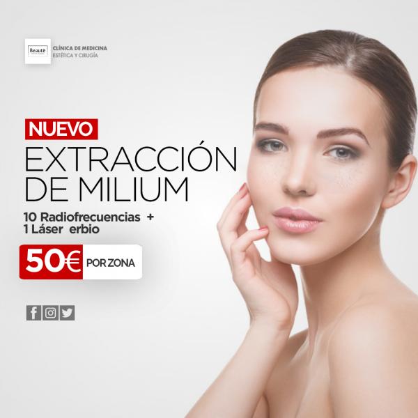 EXTRACCIÓN DE MILIUM  50 € en TodoEstetica.com