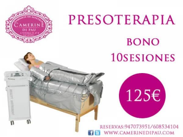 PRESOTERAPIA + TERMOESTIMULACIÓN BONO 10 SESIONES 125€!!