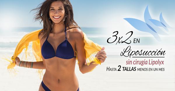3x2 Liposucción sin cirugía Lipolyx