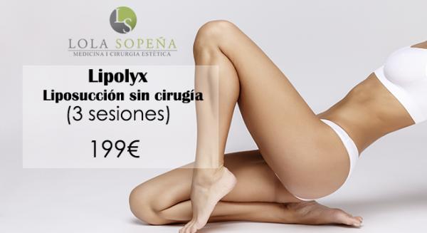 Lipolyx Liposucción sin cirugía (3 sesiones) 199€