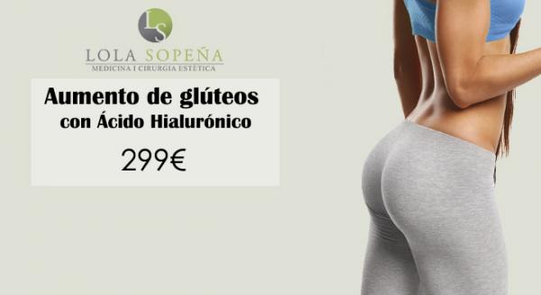 Aumento de glúteos con Ácido Hialurónico 299€