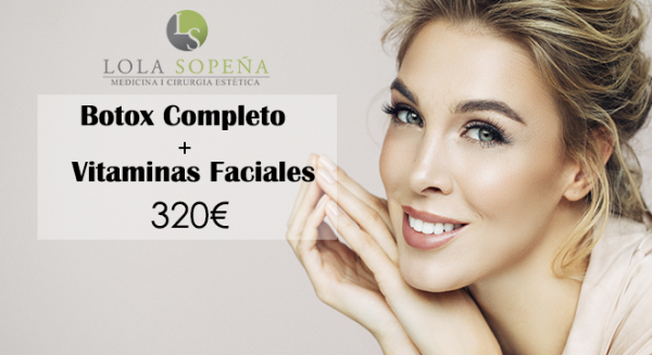Botox Completo (Vistabel) + Vitaminas Faciales Infiltradas 320€