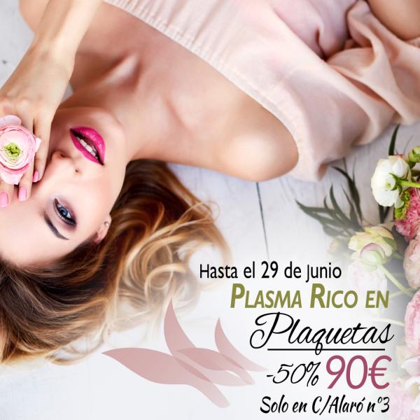 Promoción especial Plasma Rico en Plaquetas 50% de DESCUENTO  en TodoEstetica.com