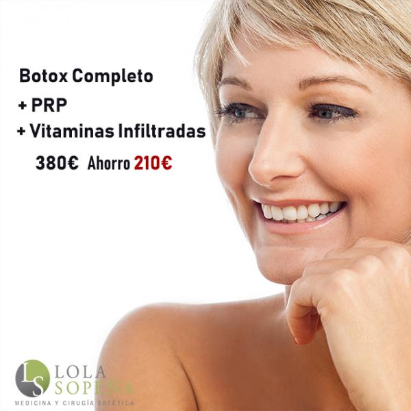 Botox Completo + PRP + Vitaminas Infiltradas 380€
