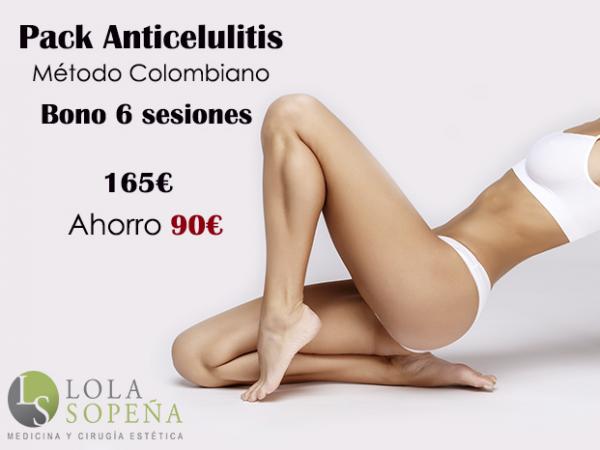 Pack Anticelulitis bono 6 sesiones por 165€