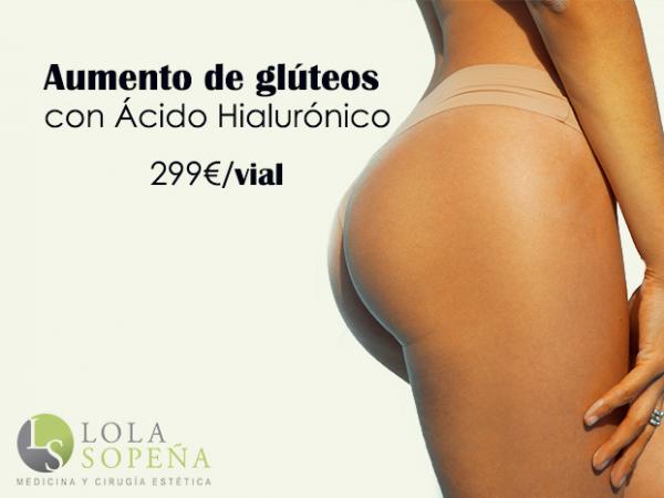 Aumento de glúteos con Ácido Hialurónico 299€/vial