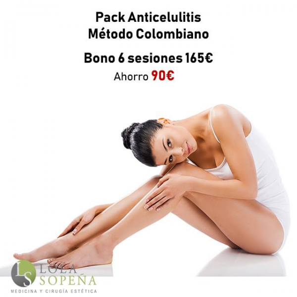 Pack Anticelulitis 6 sesiones por 160€ en TodoEstetica.com
