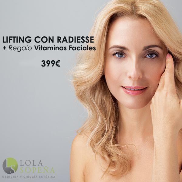 Lifting sin cirugía con Radiesse + Regalo vitaminas faciales  en TodoEstetica.com