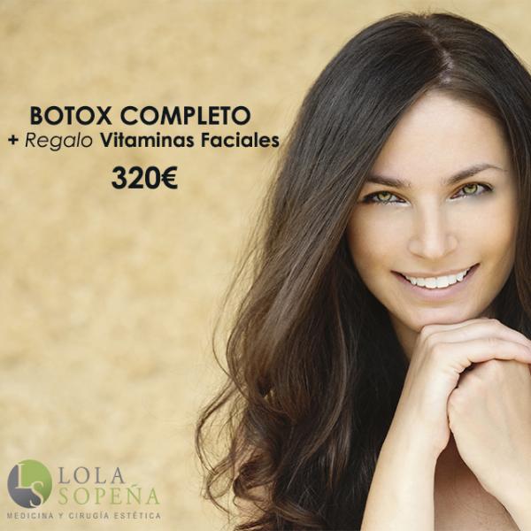 Botox Completo + Vitaminas Faciales Infiltradas 320€ en TodoEstetica.com
