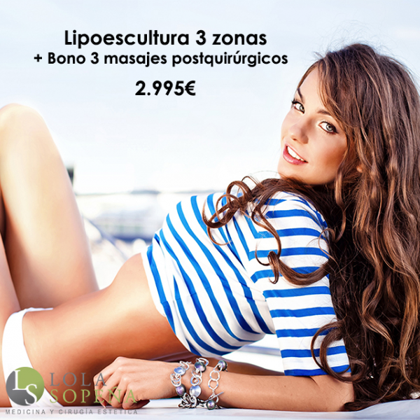 Lipoescultura 3 zonas + Bono 3 masajes postquirúrgicos