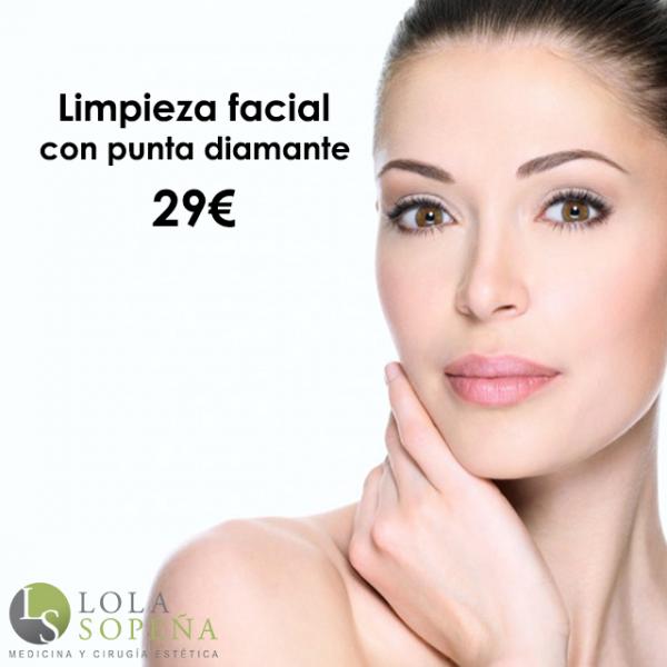Limpieza facial con punta de diamante 29€ en TodoEstetica.com