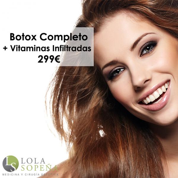 Botox Completo + Vitaminas Faciales Infiltradas 299€ en TodoEstetica.com