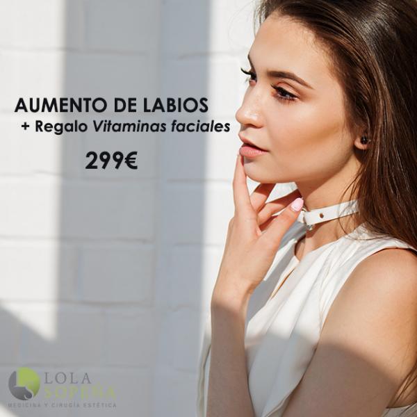 Aumento de labios + REGALO vitaminas faciales infiltradas  en TodoEstetica.com